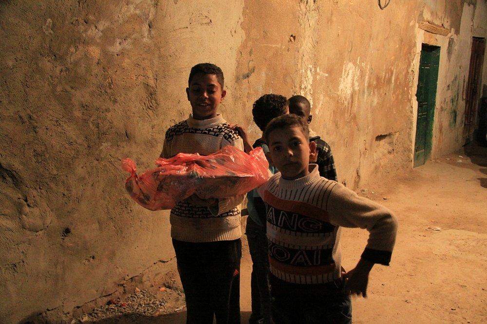 Dark Figures in the streets of Libya